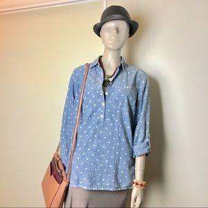 Tommy Hilfiger Blue Shirt Button Down Size SP